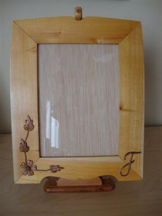 Portarretratos de madera de sanguino (arraclán)