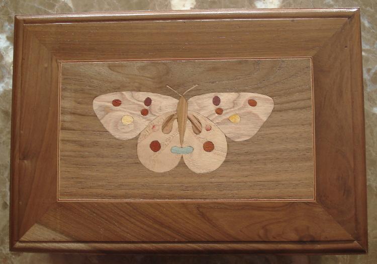 Mariposa en taracea