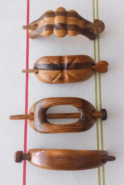 Pasadores de madera con aguja