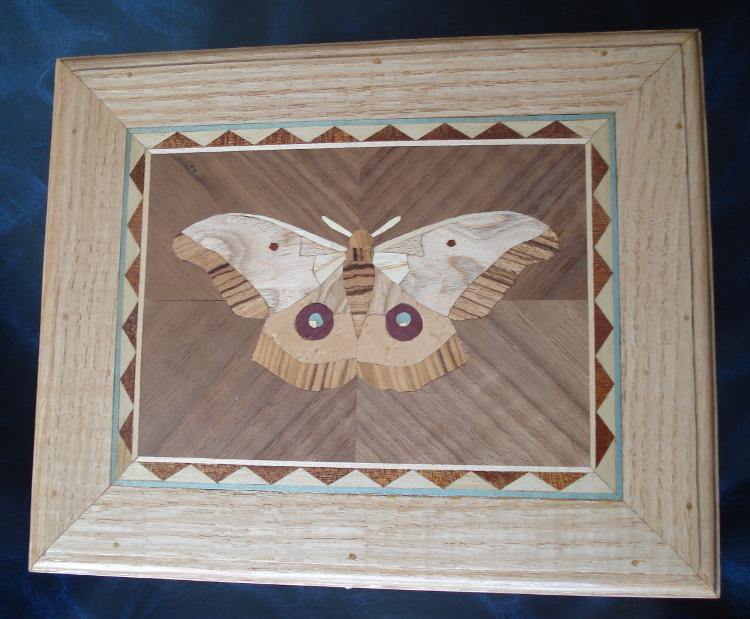 Taracea con mariposa