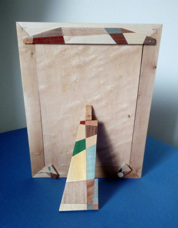 Portarretratos de espino común (reverso)