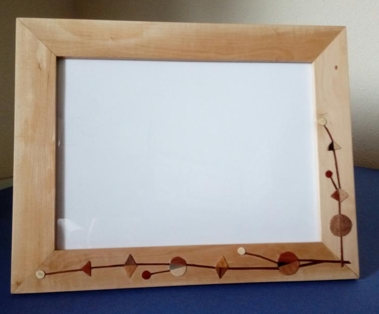 Portafotos de espino albar (anverso)